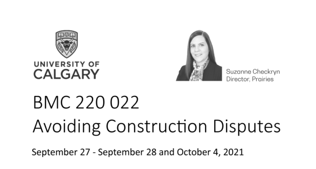 Upcoming University of Calgary Course Instructed by Revay