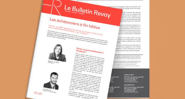 Nouveau Bulletin Revay – Les échéanciers à fin hâtive